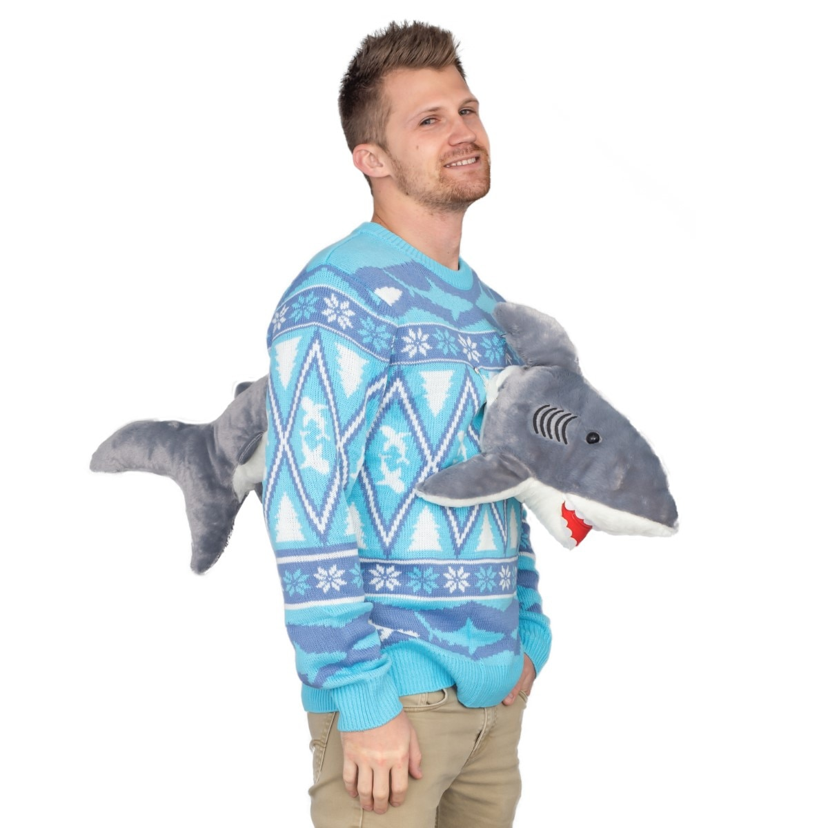 3D Shark Plushie Ugly Christmas Sweater 2 - Dread's Gift Guide: Ugly Xmas Sweaters