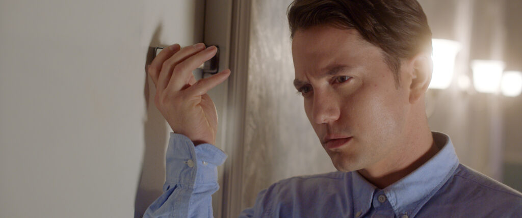 DNR Jackson Rathbone Playing Brad Slide Lock CU 1024x428 - Exclusive Clip from DO NOT REPLY at NYC Horror Film Fest This Week
