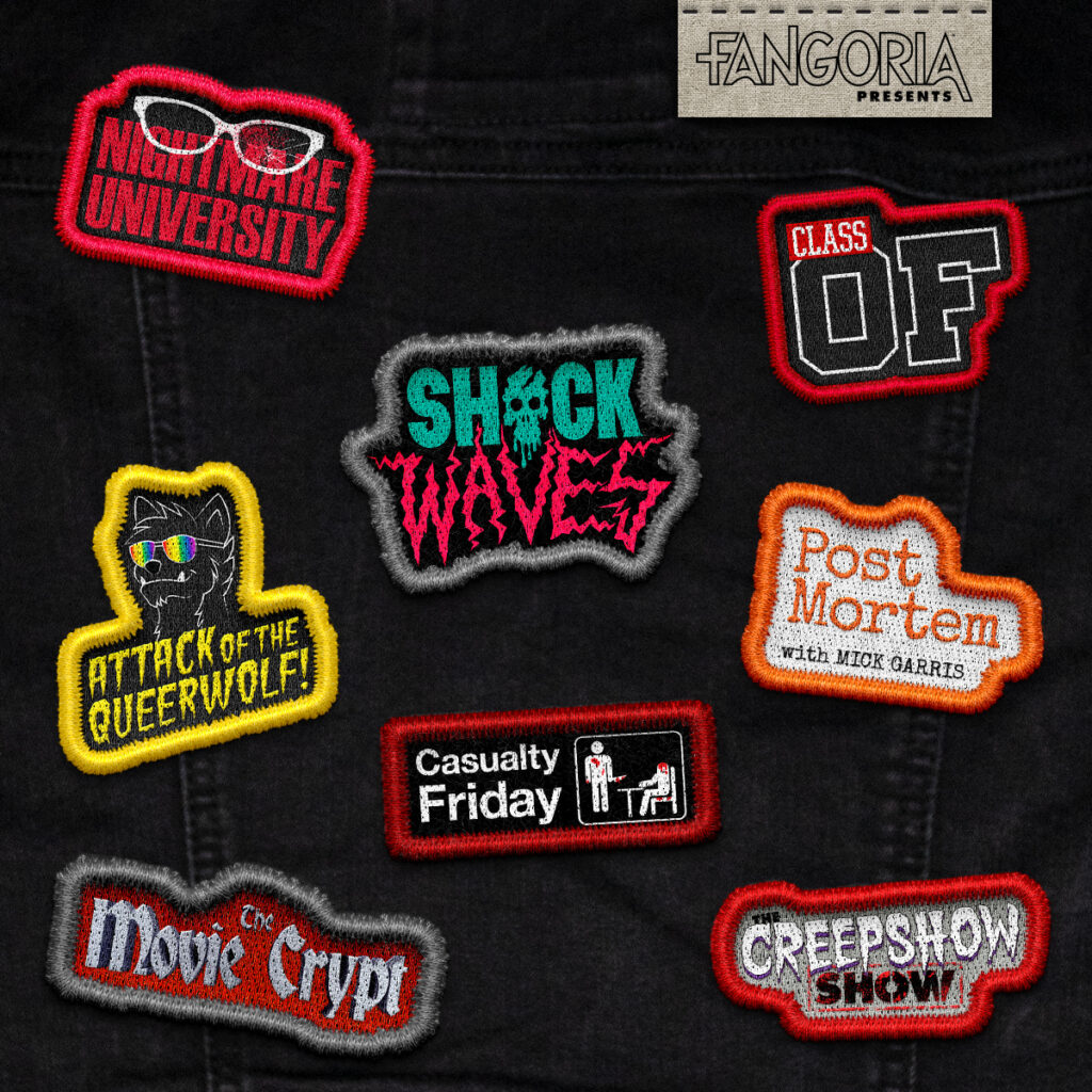 FANGORIA presents podcast patches square 1024x1024 - Celebrate FANGORIA the 13th With These Major Podcast Announcements!