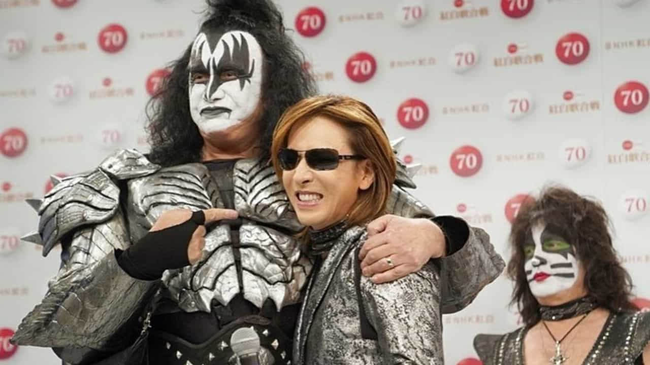 Gene Simmons and Yoshiki - KISS & Yoshiki Collaborate for Once-in-a-Lifetime TV Performance on New Year's Eve