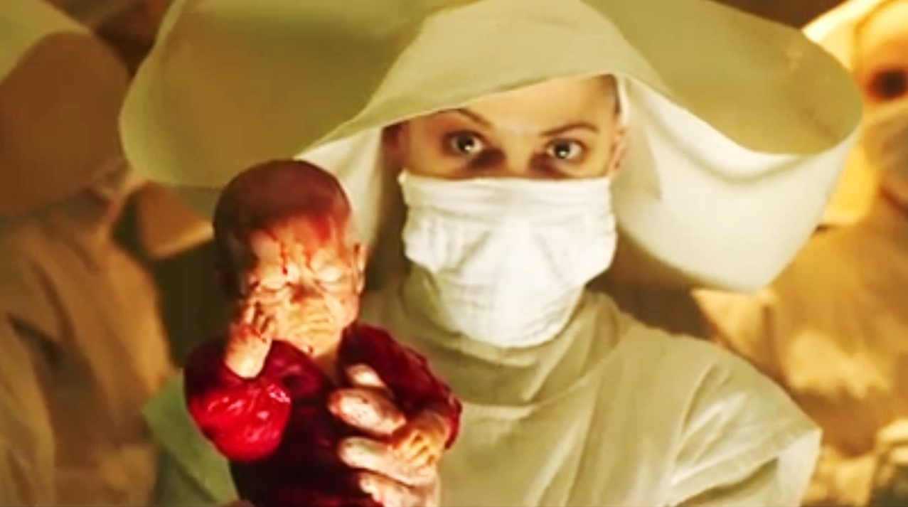 In Fabric Banner - Bloody Bizarre Birth Featured in New Clip from IN FABRIC