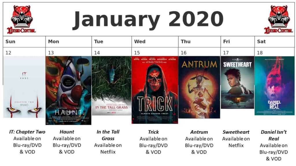 """January 2020 Week 3 1024x576 - We're Launching """"YEAR OF DREAD 2020"""": A 366-Day Horror Movie Challenge!"""