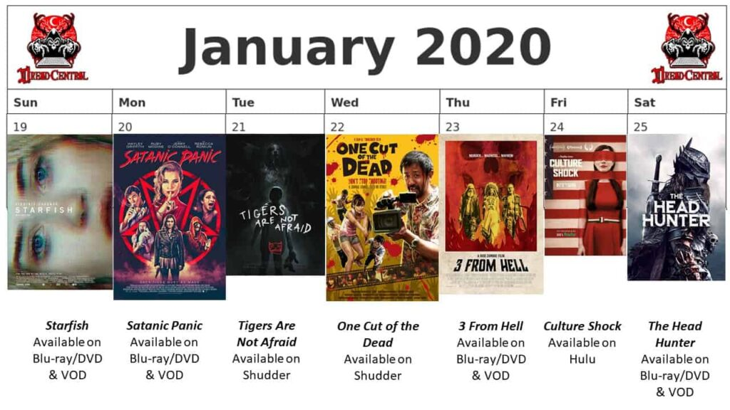 """January 2020 Week 4 1024x576 - We're Launching """"YEAR OF DREAD 2020"""": A 366-Day Horror Movie Challenge!"""