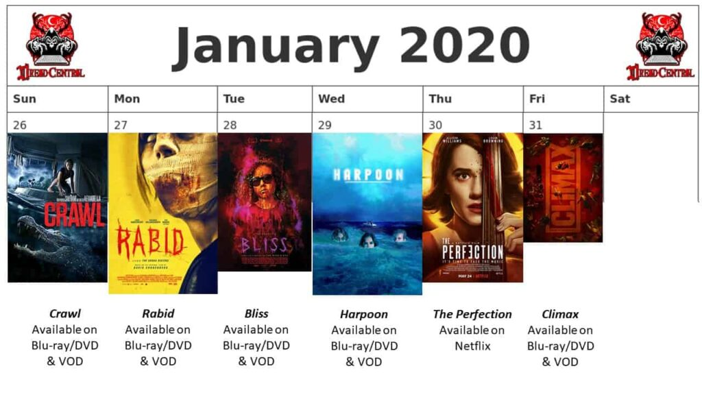 """January 2020 Week 5 1024x576 - We're Launching """"YEAR OF DREAD 2020"""": A 366-Day Horror Movie Challenge!"""