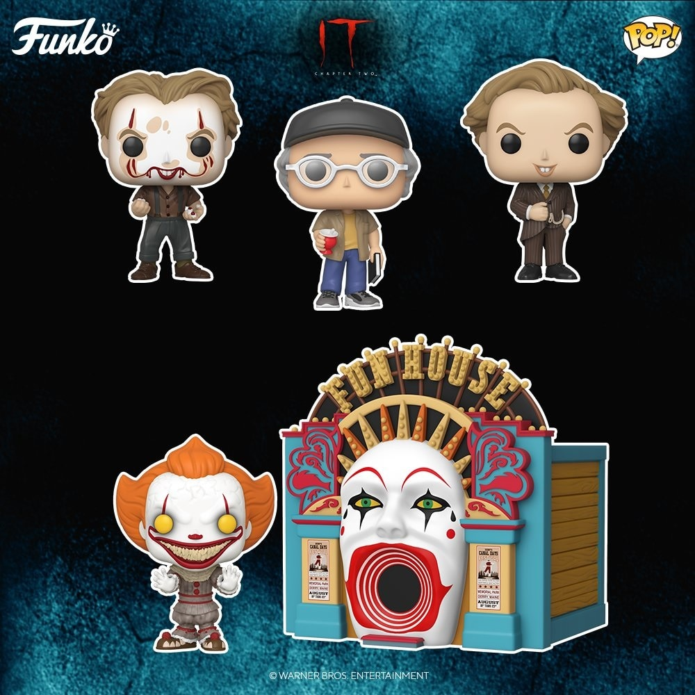 Pennywise Stephen King Funko Figures DC - Funko IT 2 Figures: King's Cameo, Meltdown Pennywise & More