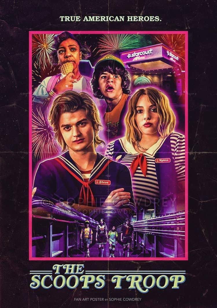 Stranger Thing 3 poster - THE WITCHER & STRANGER THINGS 3 Are Netflix's Most Popular TV Shows of 2019