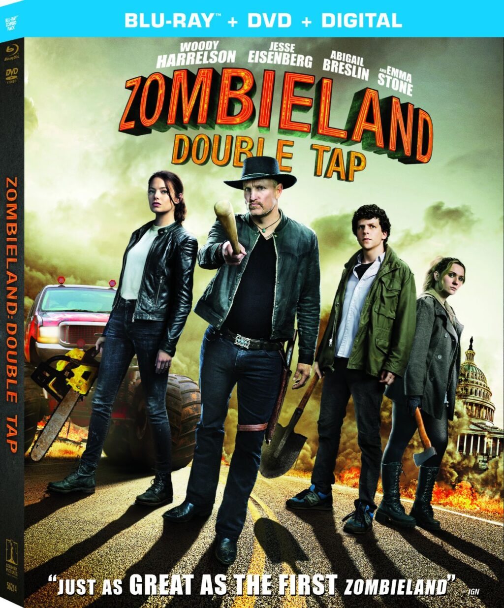 ZOMBIELAND DOUBLE TAP Blu ray DC 1024x1235 - ZOMBIELAND: DOUBLE TAP Hits Blu-ray in January