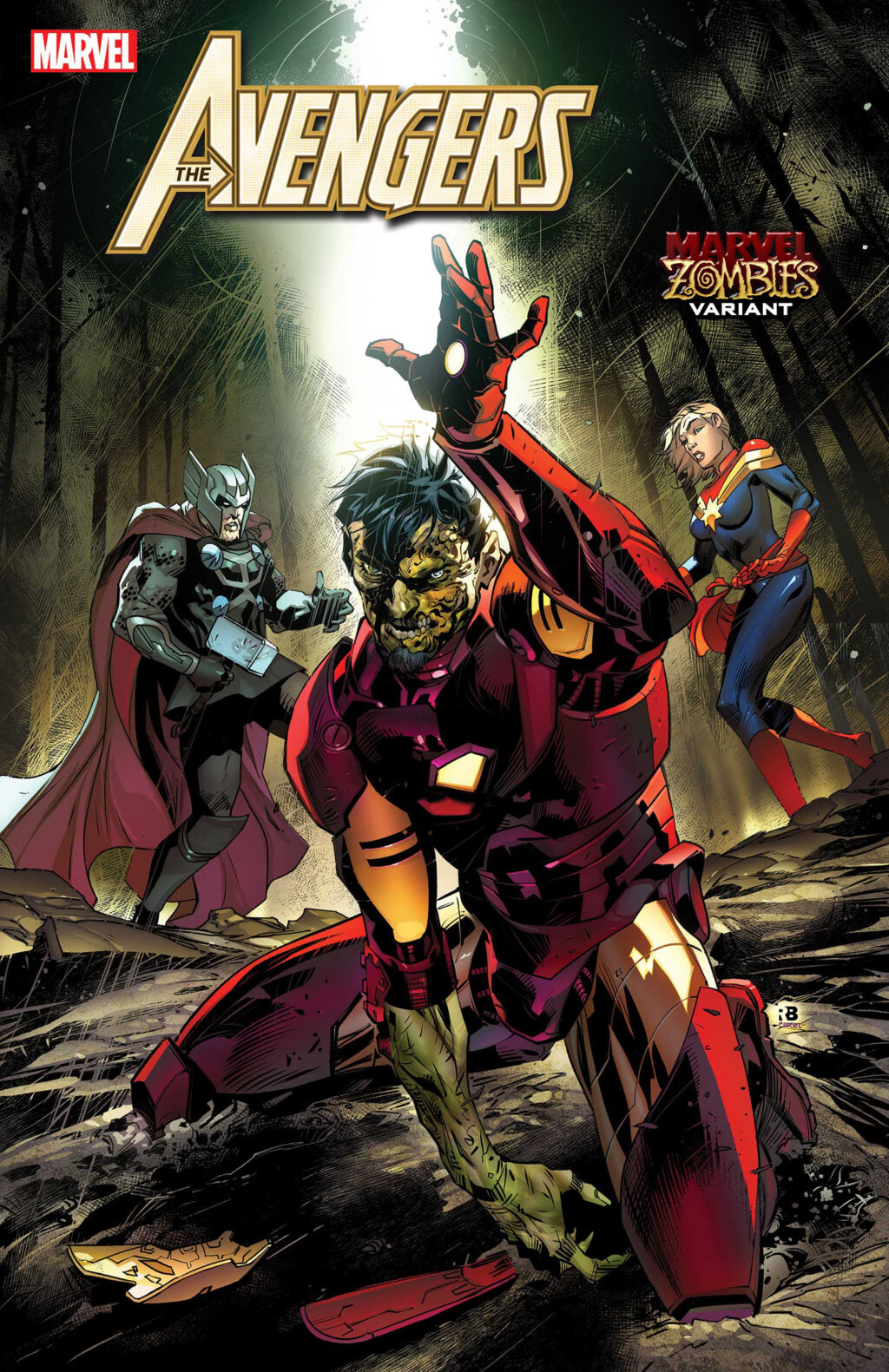 AVEN2018033 zombie var 1024x1581 - Image Gallery: The Undead Rise in April's MARVEL ZOMBIES Variant Covers