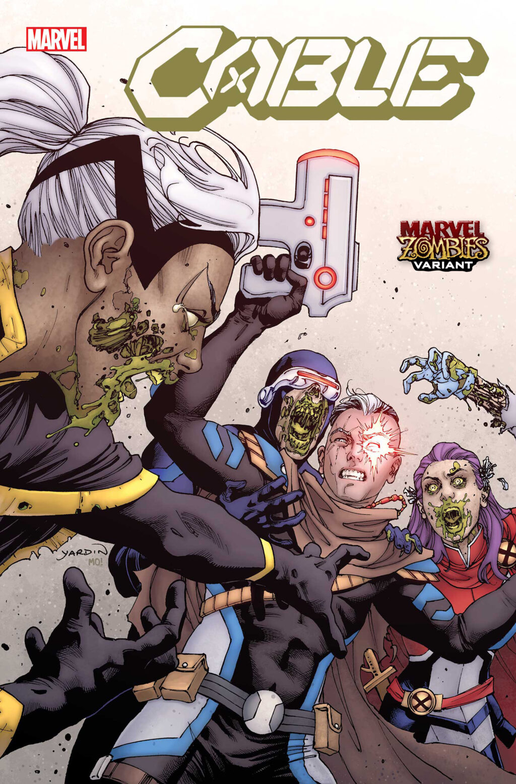 CABLE2020002 ZOMBIE VAR 1024x1555 - Image Gallery: The Undead Rise in April's MARVEL ZOMBIES Variant Covers