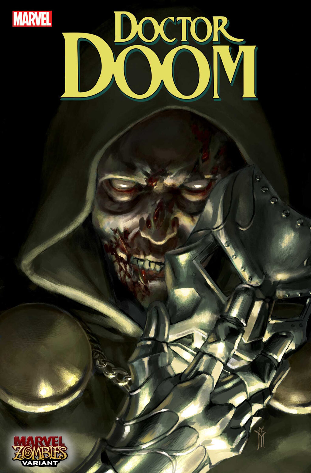 DOOM2019007 zombie Var 1024x1555 - Image Gallery: The Undead Rise in April's MARVEL ZOMBIES Variant Covers