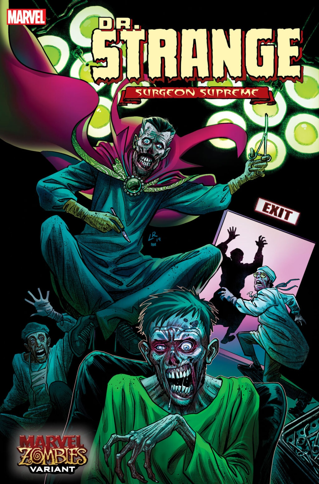 DRS2019005 Luke Ross Zombie var 1024x1554 - Image Gallery: The Undead Rise in April's MARVEL ZOMBIES Variant Covers