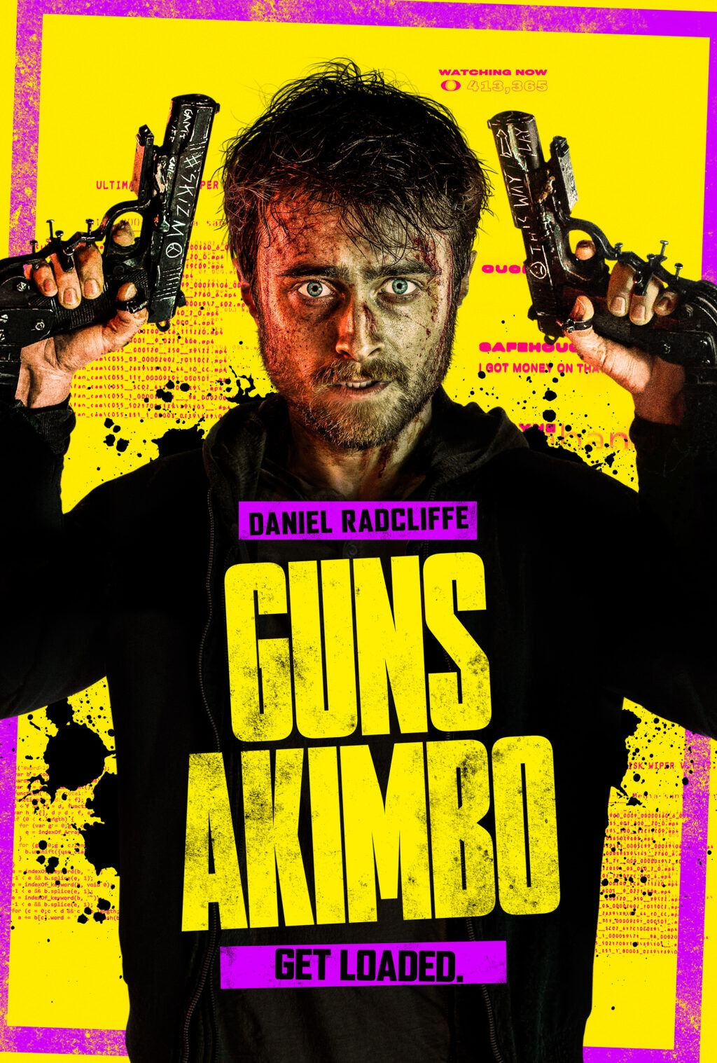 GUNSAKIMBO R04 28 Fin V1 halfsize 1024x1517 - GUNS AKIMBO Rated R For Strong Bloody Violence Throughout & More