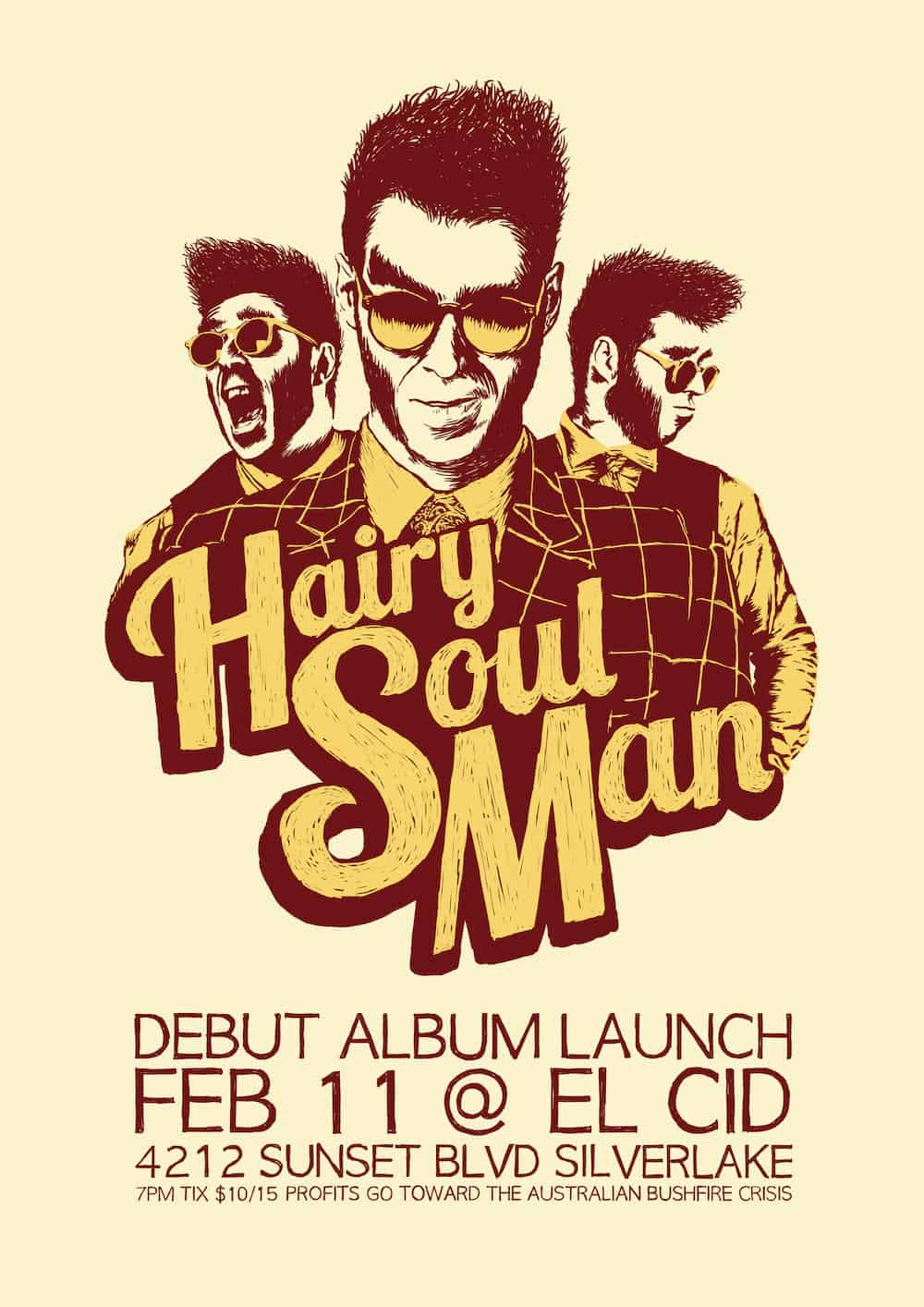 HSM album Launch Poster small 1 - CHRONIC HORROR Guest Hairy Soul Man is So Sexy It's Scary