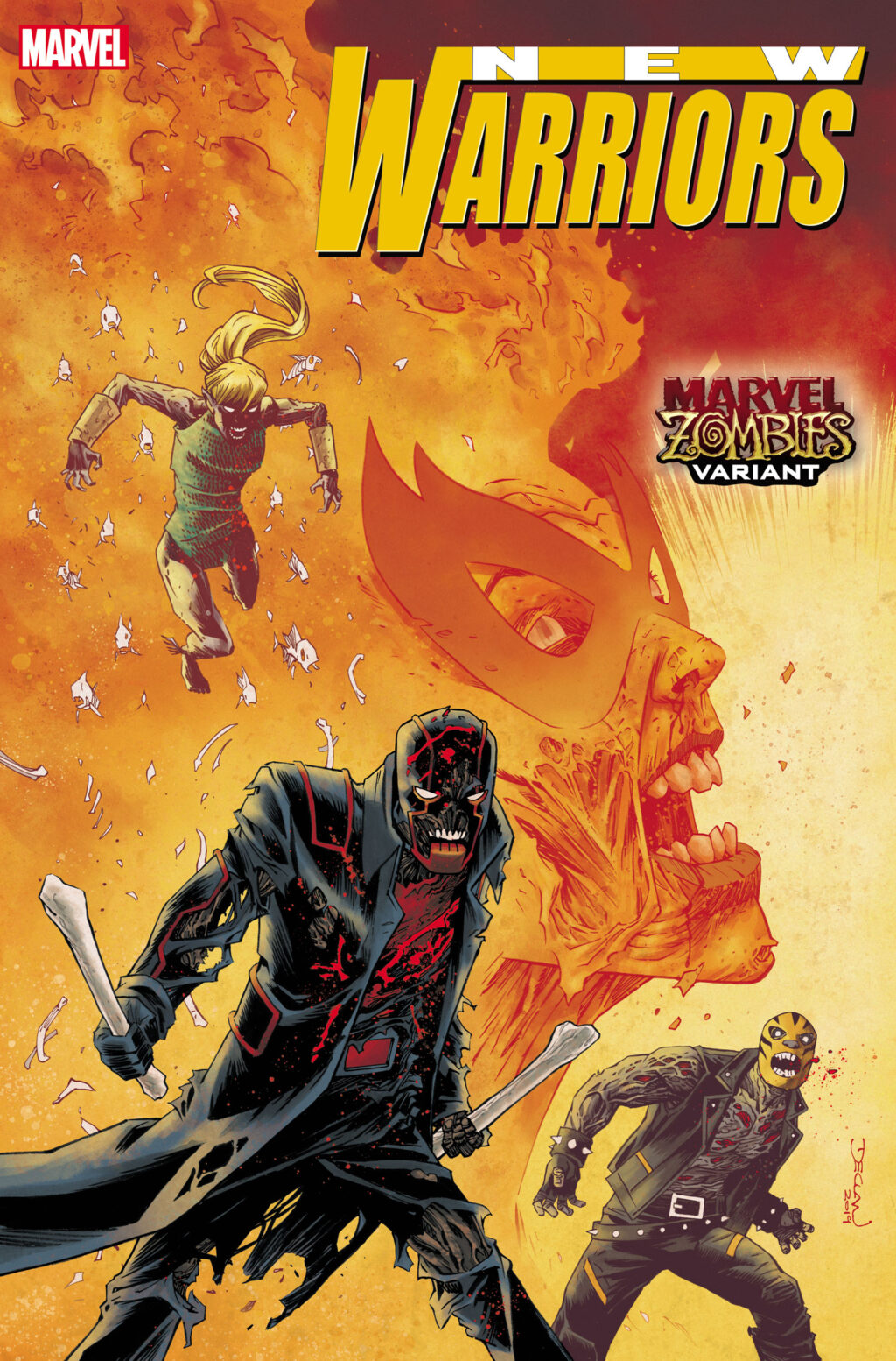 NEWWAR2020001 Shalvey Zombies 1024x1554 - Image Gallery: The Undead Rise in April's MARVEL ZOMBIES Variant Covers