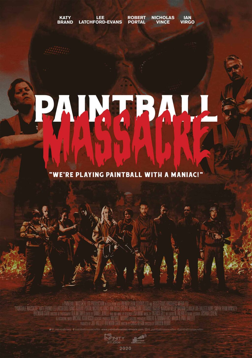 PBM Poster 1 72 RGB 1024x1450 - 1st Look at Artwork for British Horror Comedy PAINTBALL MASSACRE