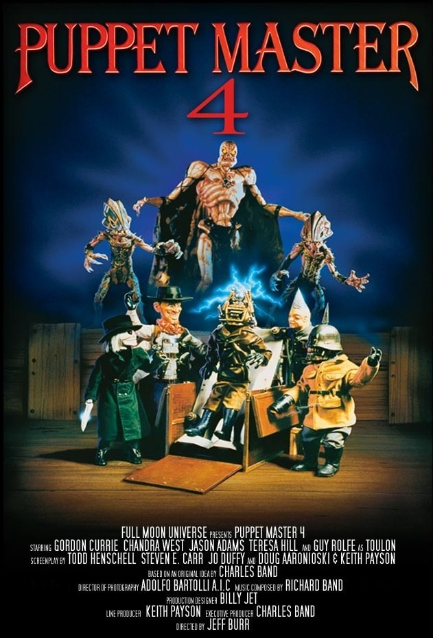 Puppet Master 4 Poster - PUPPET MASTER 4 Now Streaming on Free DREAD App!