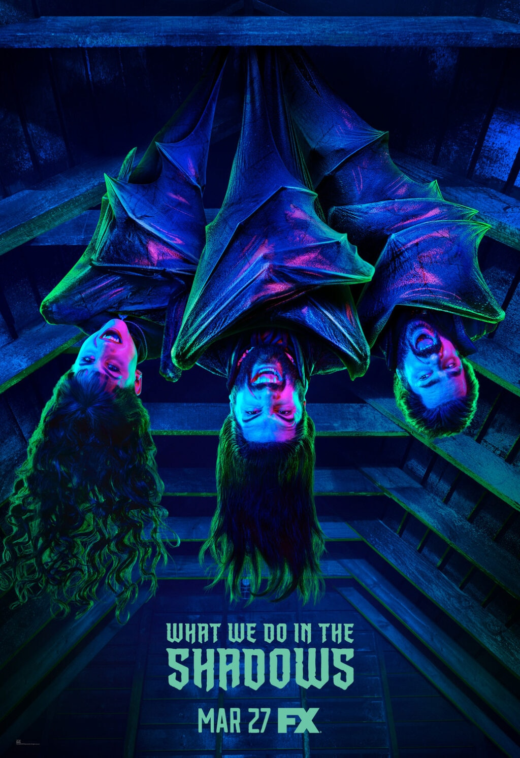What We Do in the Shadows FX Poster 1024x1493 - Mark Hamill Guest Stars in WHAT WE DO IN THE SHADOWS Season 2