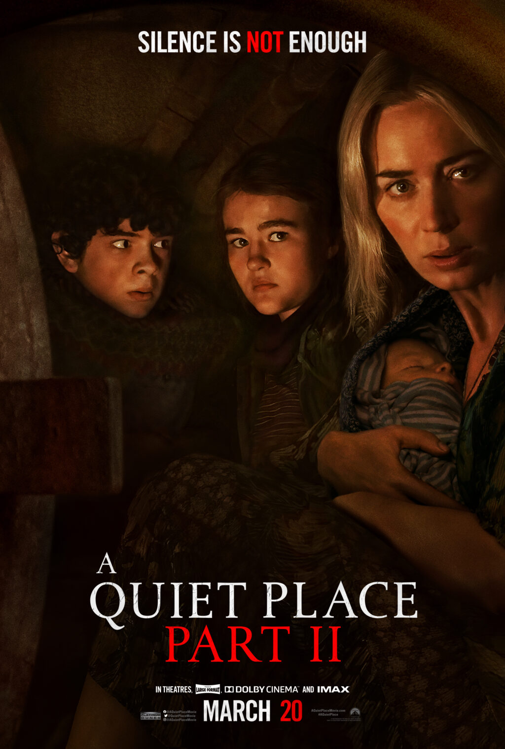 """AQP2 Dom Online Vertical Family 1024x1517 - Latest Trailer for A QUIET PLACE PART II + """"Survival Rooms"""" Coming to LA & NYC"""