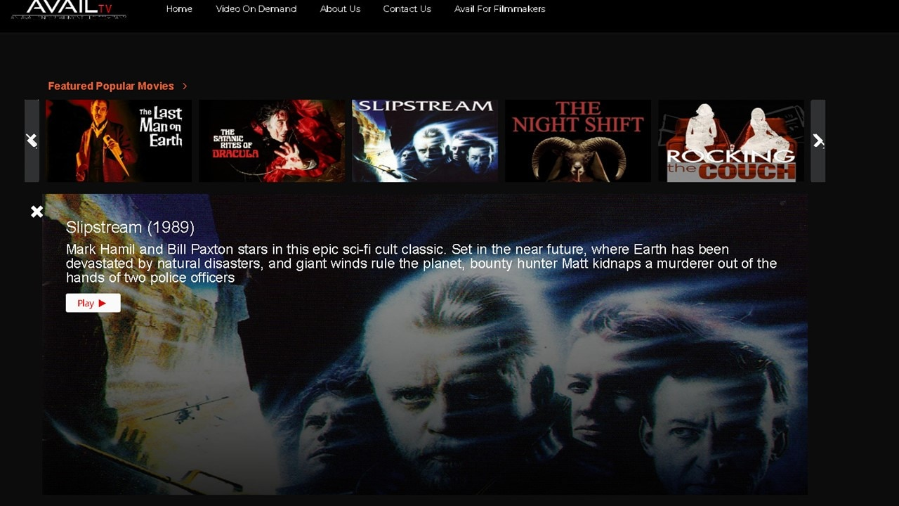 AVAILtv Banner - Brand-New & Classic Horror Movies Available for Free on AVAIL TV