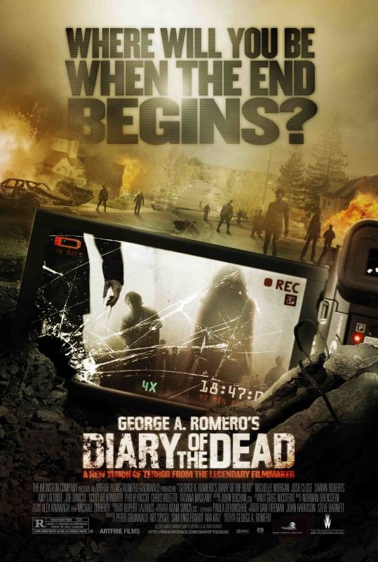 Diary of the Dead poster - This Day in Horror: DIARY OF THE DEAD Was Released 12 Years Ago