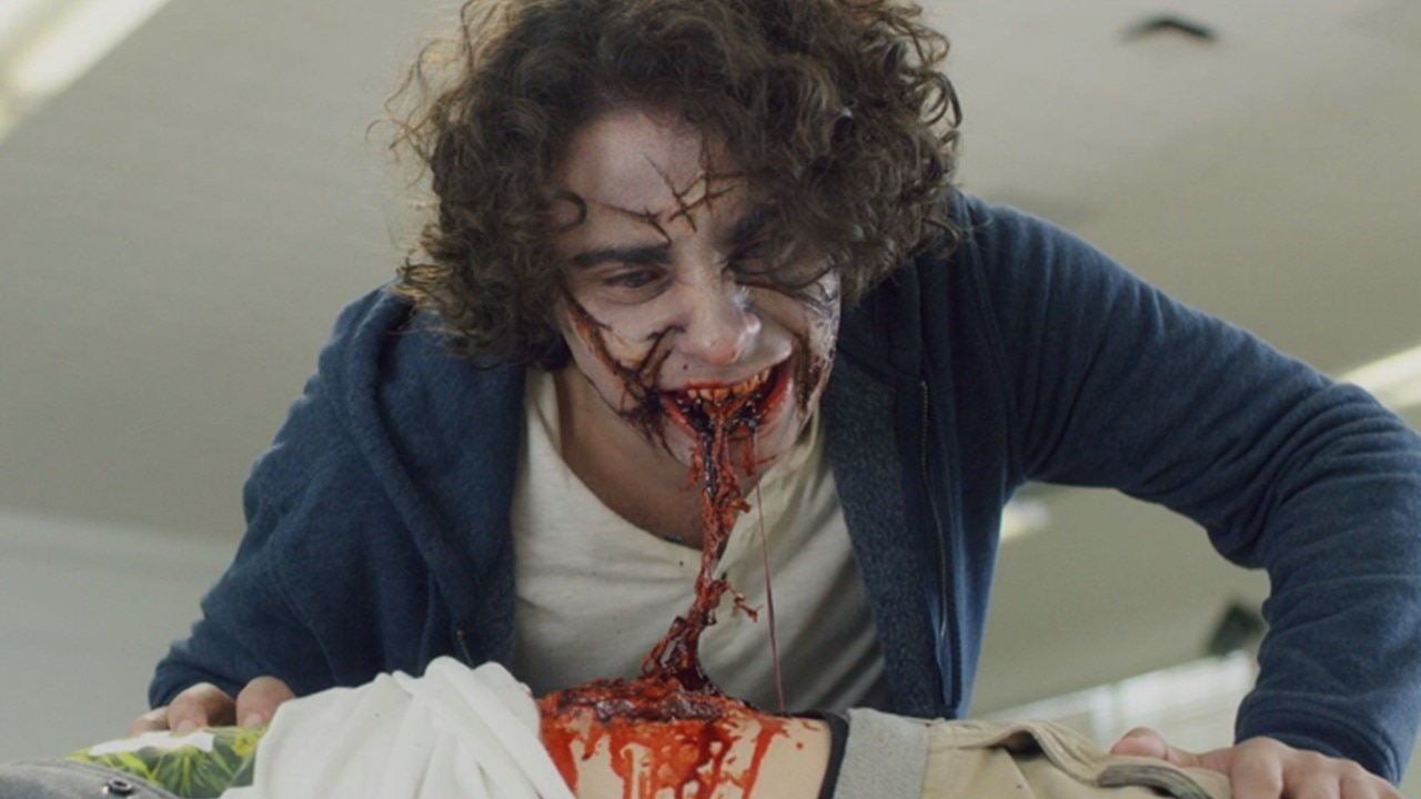 Eat Brains Love Banner - Gruesome Cafeteria Chaos in Our Exclusive Clip from EAT, BRAINS, LOVE