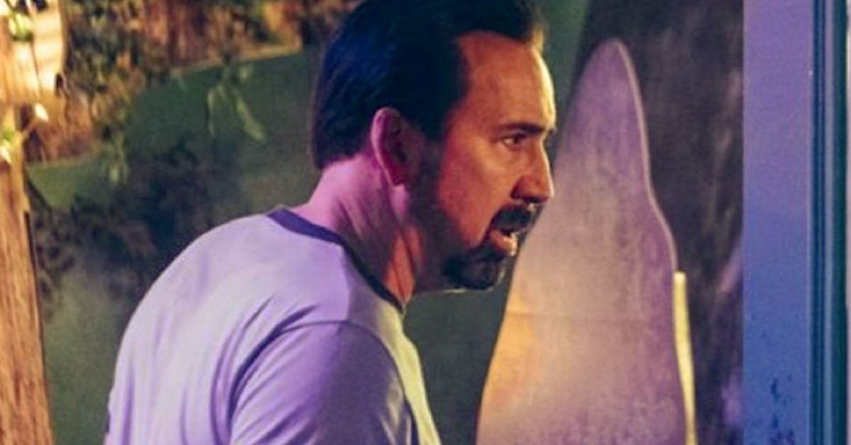 First Look  Nicolas Cage  Wallys Wonderland edited - First Look: Nicolas Cage Vs Possessed Animatronics In WALLY'S WONDERLAND