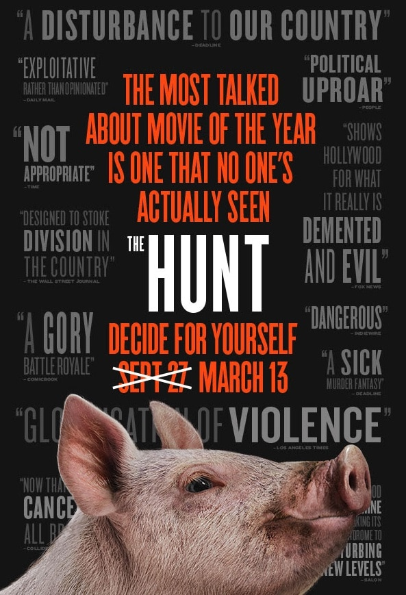 Hunt Poster - New Trailer & Poster: THE HUNT (Finally) Hits Theaters 3/13