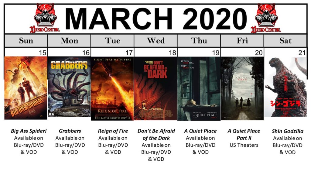 "March 2020 Template week 3 1024x576 - Our 366-Day ""Year of Dread 2020"" Horror Challenge Continues with a Month of Monsters"