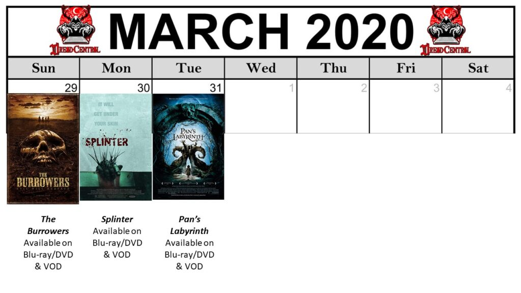 "March 2020 Template week 5 1024x576 - Our 366-Day ""Year of Dread 2020"" Horror Challenge Continues with a Month of Monsters"