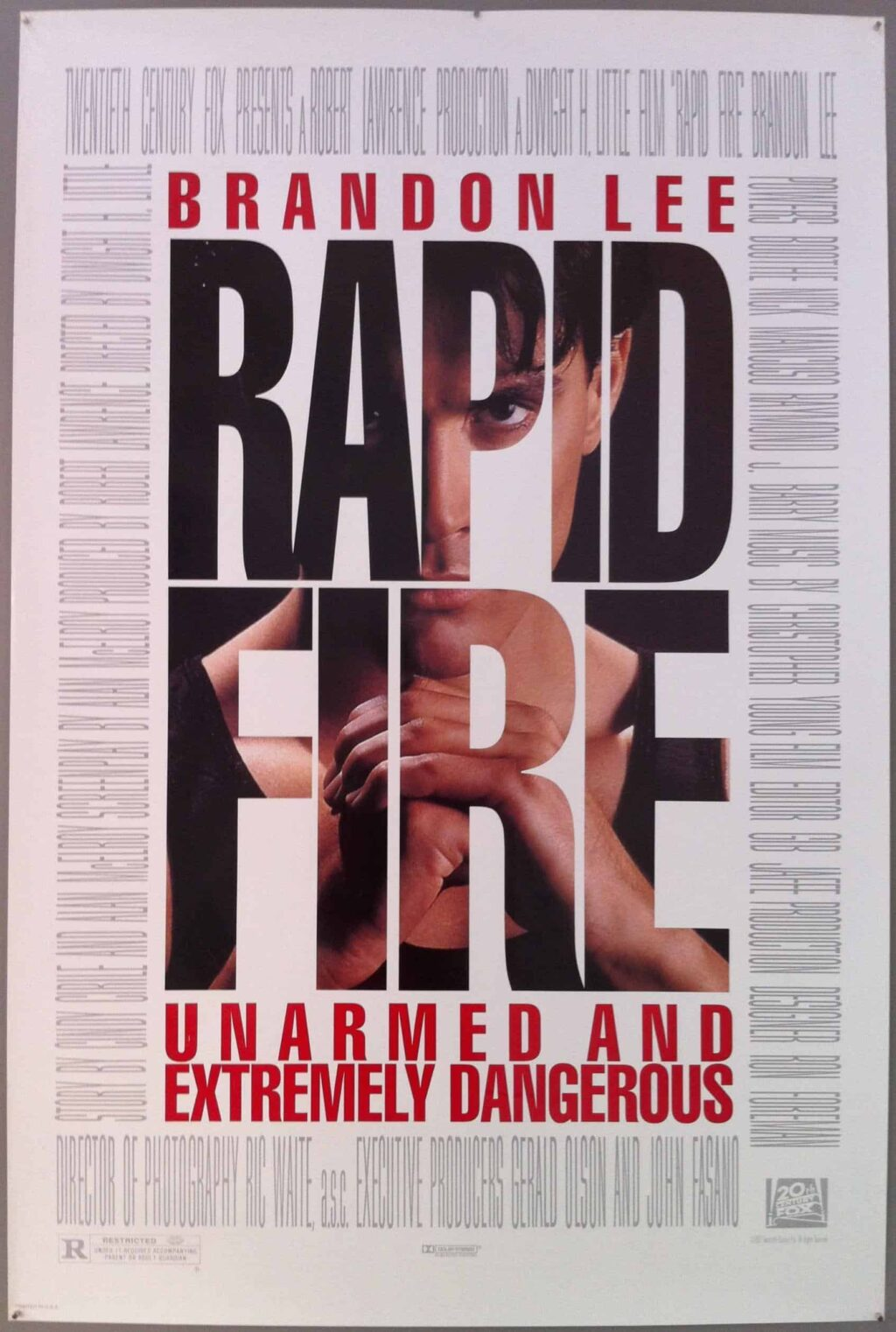 RAPID FIRE Poster 1024x1522 - Brandon Lee's Sister Celebrates What Would've Been THE CROW Actor's 55th Birthday