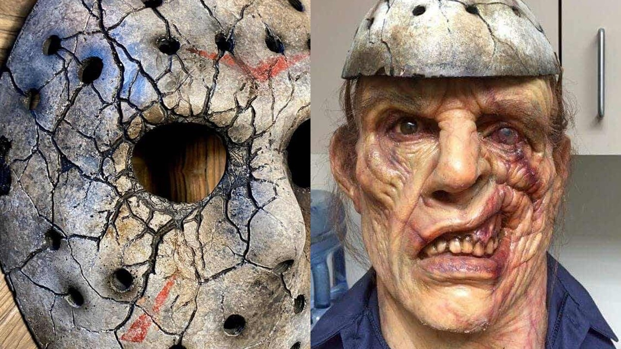SOTA Ft13th Banner - Images of Jason Mask & Machete from Abandoned FRIDAY THE 13TH TV Series/Movie Surface Online