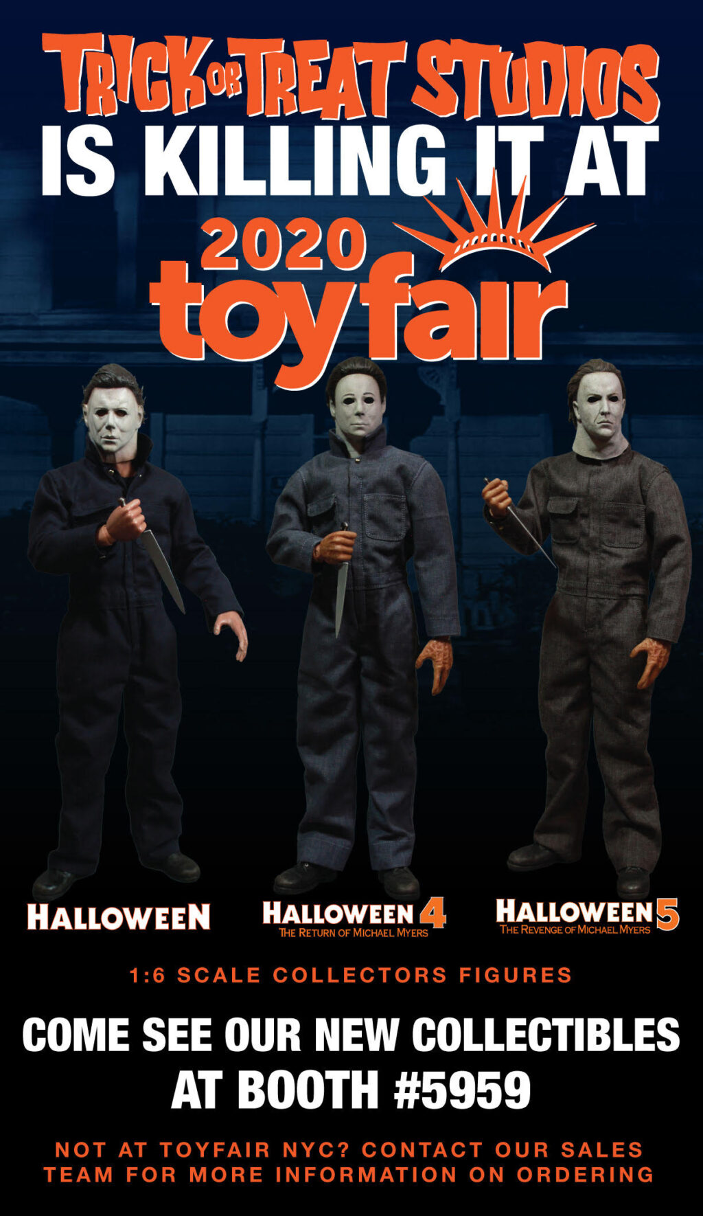 2020 Halloween Michael Myers Figure New York Toy Fair 2020: Michael Myers 1:6 Figures from Trick or