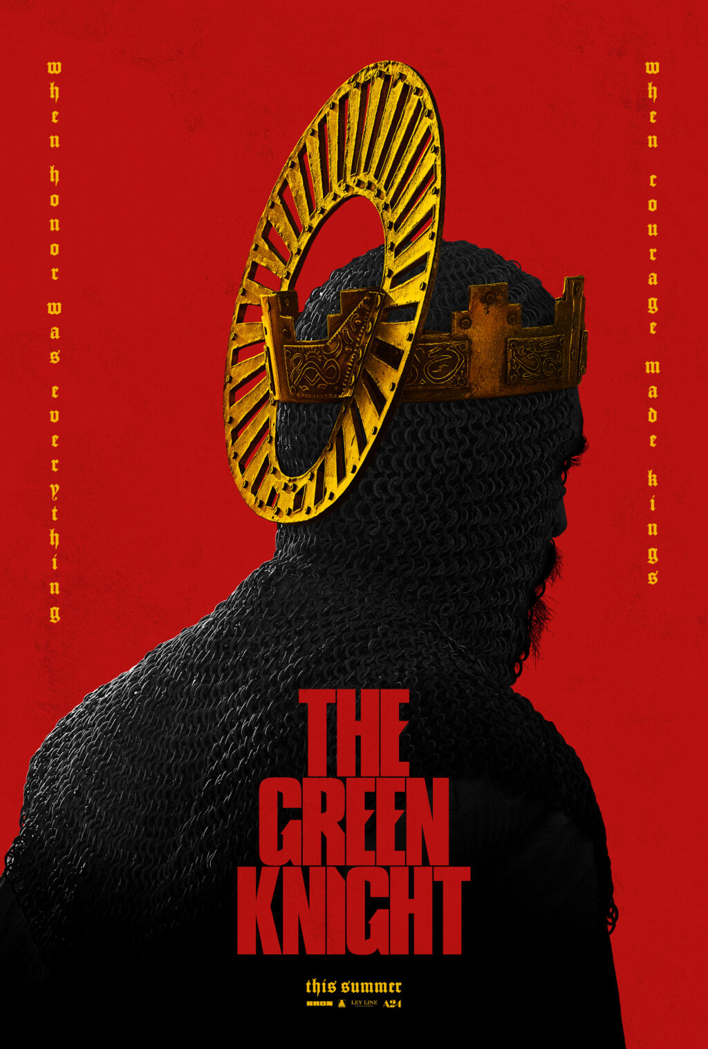 The Green Knight Poster 1024x1517 - Trailer: A24's Horror-Fantasy Flick THE GREEN KNIGHT Slays 5/29