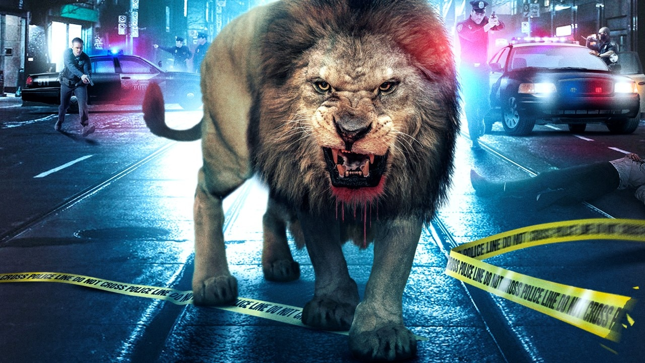 Uncaged Banner - Lion Stalks City Streets in Trailer for UNCAGED