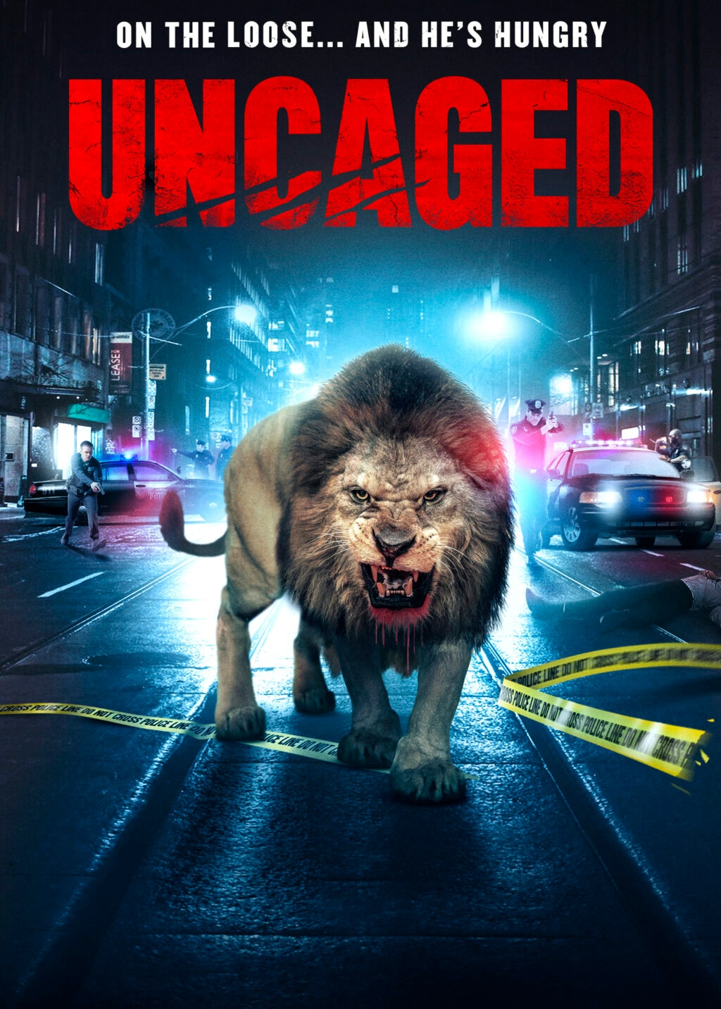 Uncaged Poster 1024x1433 - Lion Stalks City Streets in Trailer for UNCAGED