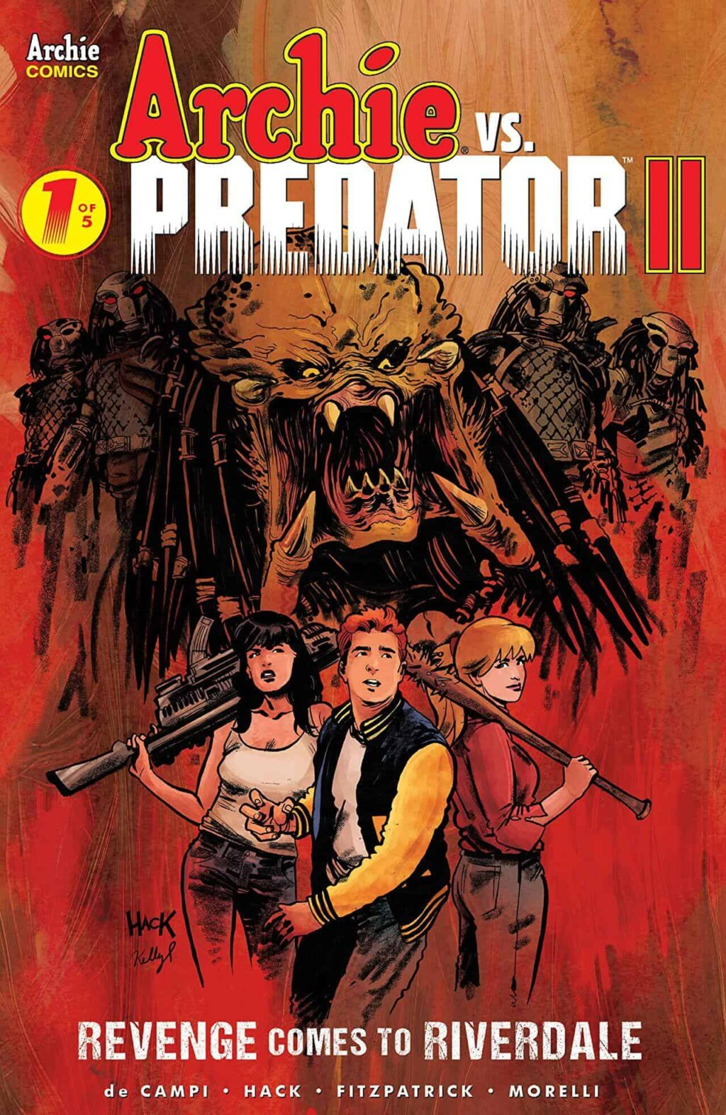 archie vs predator 2 issue one cover 1 1024x1573 - Final Issue Of ARCHIE VS PREDATOR II Now On Sale