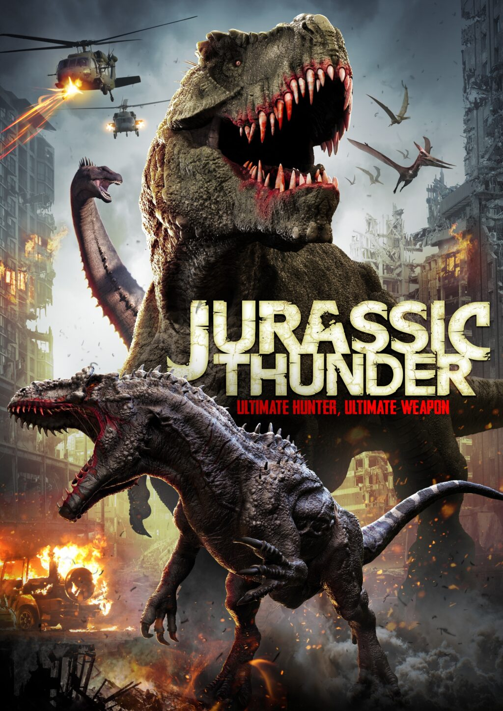 jp poster 1024x1447 - Trailer: Dinosaurs Are Weaponized in JURASSIC THUNDER