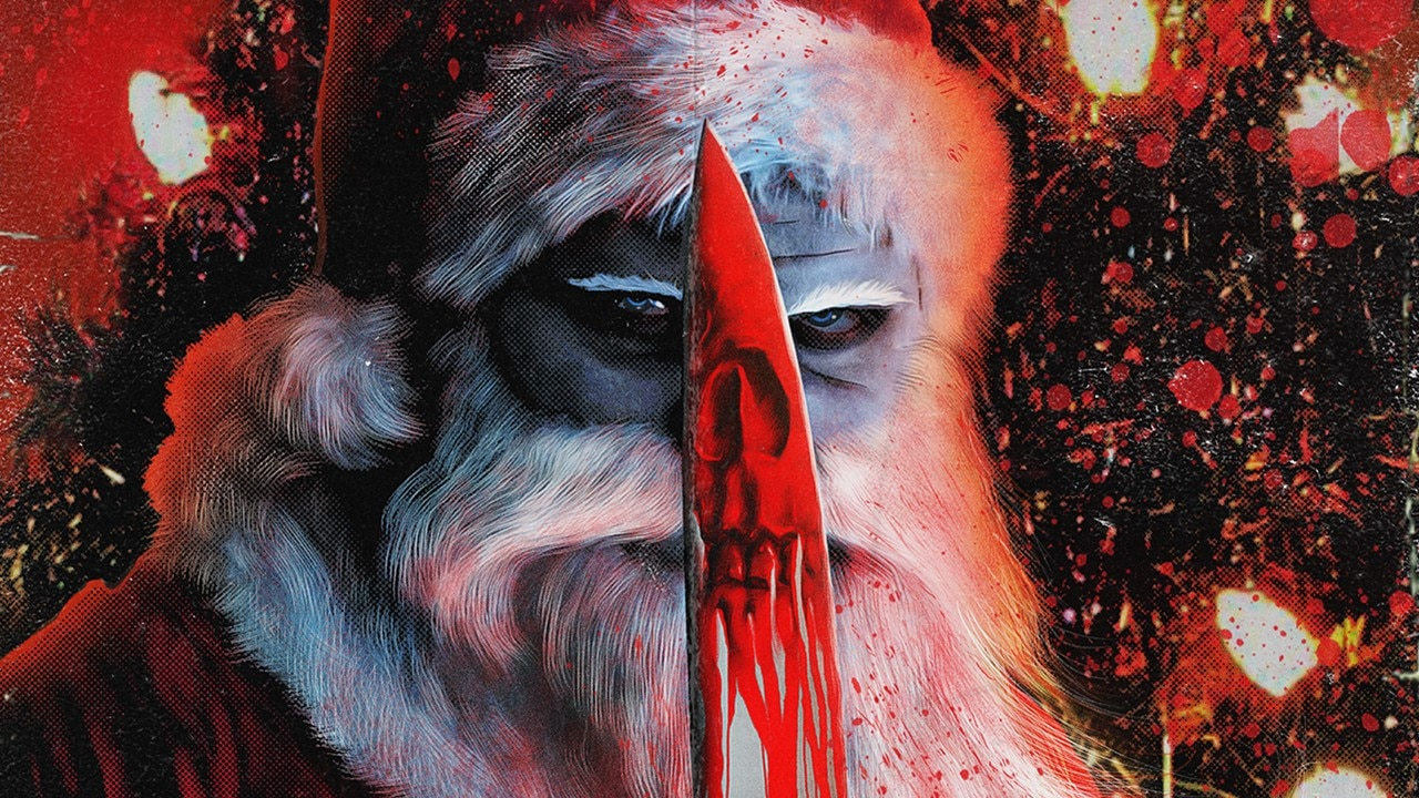 13 Slays till x mas banner - Spooky Santa Adorns Poster for Upcoming Anthology 13 SLAYS TILL X-MAS