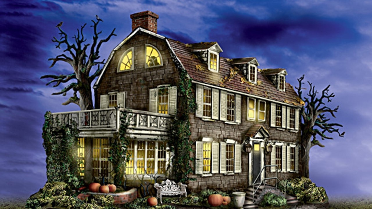 "Amityville House The Bradford Exchange - ""America's Most Haunted"" Illuminated Village Collection Debuts Awesome Amityville House"