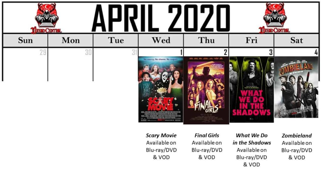 April 2020 Week 1 1024x576 - Our 366-Day Horror Challenge Continues with a Month of Horror Comedies (No Fooling!)