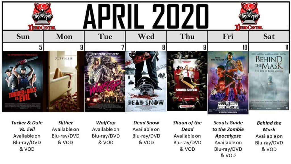 April 2020 Week 2 1024x576 - Our 366-Day Horror Challenge Continues with a Month of Horror Comedies (No Fooling!)