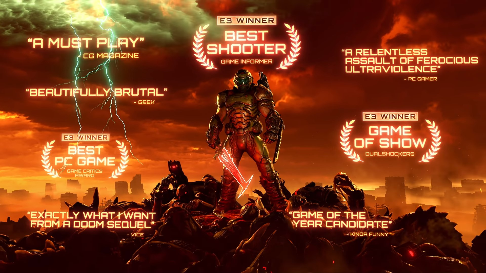 DOOM Eternal – Official Launch Trailer 1 25 screenshot - DOOM ETERNAL OFFICIAL LAUNCH TRAILER IS A FESTIVAL OF CARNAGE