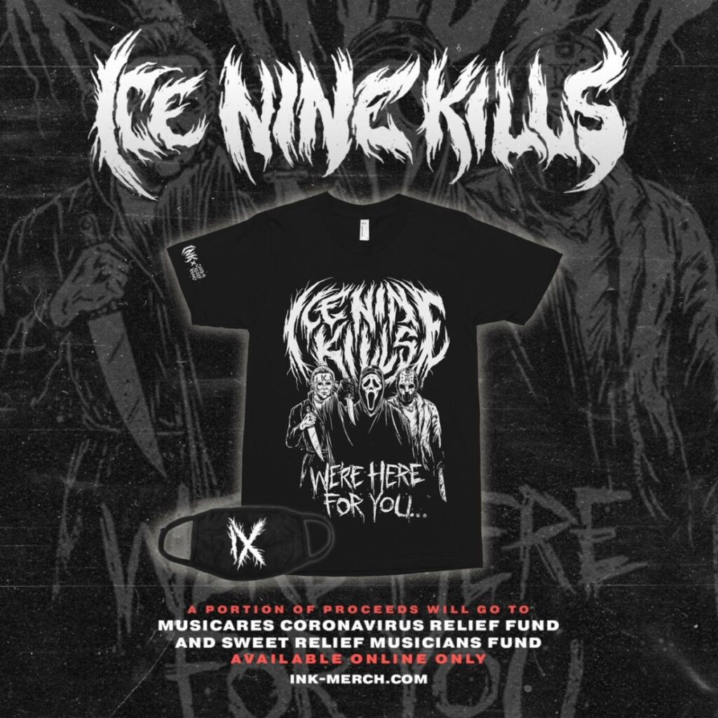 INK charity Shirt 1024x1024 - Horror-Themed Metal Band Ice Nine Kills Launch Charity T-Shirt To Aid Musicians