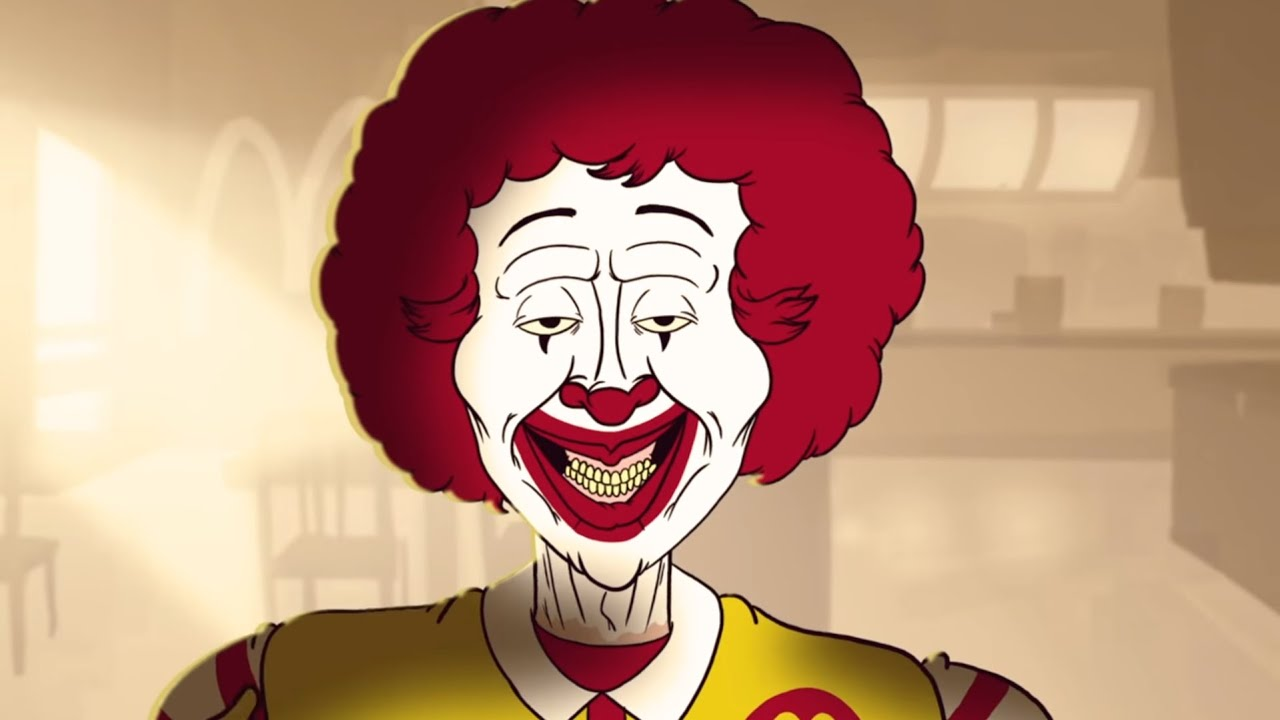 Just Beyond the Golden Arches Banner - Spend a Terrifying Day with Ronald McDonald in Animated Horror Short JUST BEYOND THE GOLDEN ARCHES