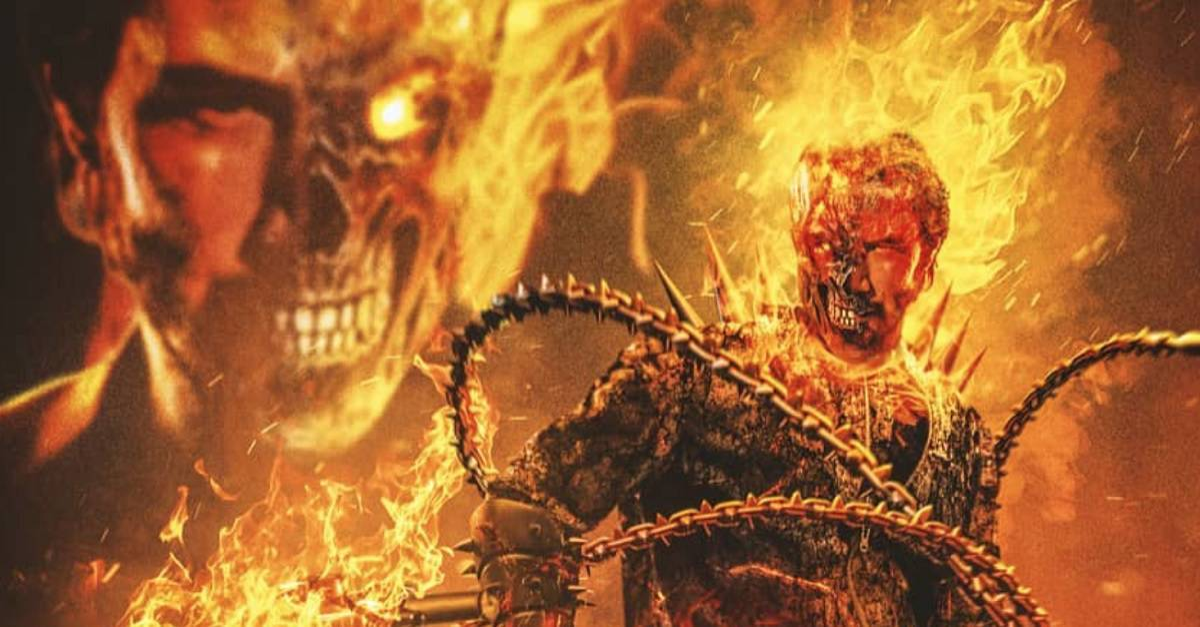 Keanu Reeves Ghost Rider - Keanu Reeves as GHOST RIDER Will Set Your Skull Ablaze [Fan Art]