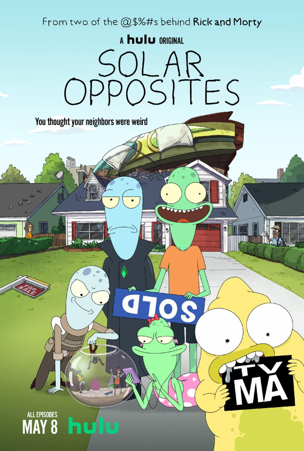 Solar Opposites Poster 1024x1517 - Trailer: Animated Series SOLAR OPPOSITES from RICK & MORTY Co-Creator