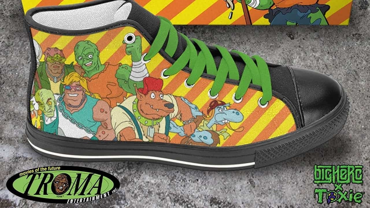 Troma High Tops Banner - Big Herc & Troma Collab on Killer Kicks: TOXIC CRUSADERS High Tops!