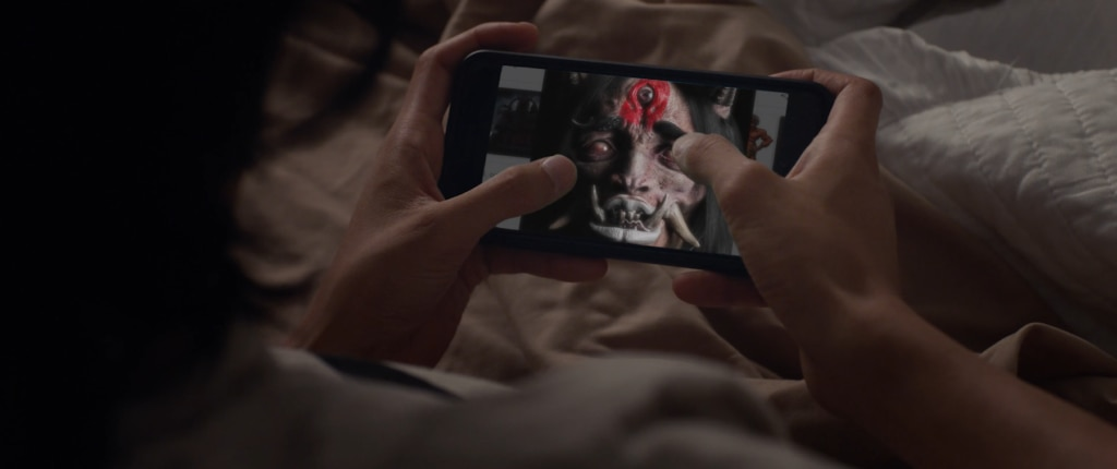 phone 1024x430 - Exclusive Premiere: A Samurai Faces His Demons in Horror Short ONI Based on Classic Japanese
