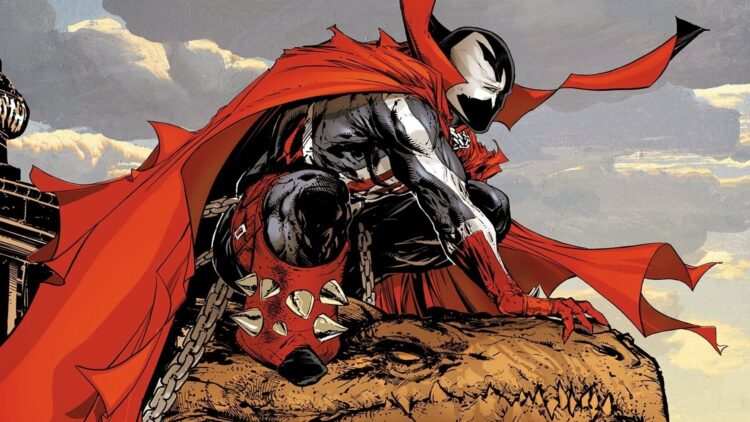 spawn spider man 1 750x422 - Spawn Meets Spider-Man In Epic New Book Cover Drawn By Todd McFarlane