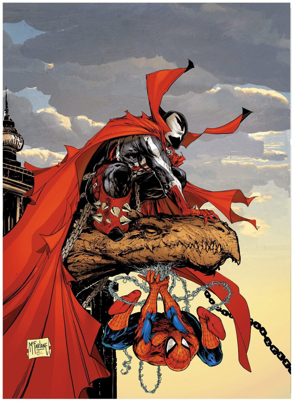 spawn spider man book cover 1 1024x1394 - Spawn Meets Spider-Man In Epic New Book Cover Drawn By Todd McFarlane
